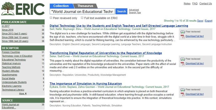 World Journal on Educational Technology: Current Issues
